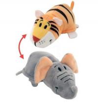1toy Игрушка Вывернушка 2 в 1 Слон-Тигр 12 см