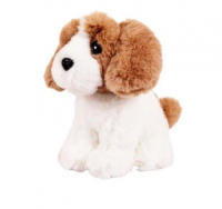 ABtoys Собачка белая с рыжим, 15см игрушка мягкая M5057