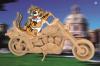 Конструктор деревянный 3D Мотоцикл МД-8481