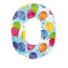 Шар Цифра 0, 86*66см, цвет шары, фольга