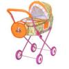 Коляска для кукол №4 Ясюк цветная с сумкой