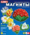 Фигурки на магнитах из гипса М-008 Цветочки