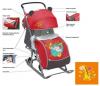 Санки-коляска Ника детям 7 Жираф оранжевый