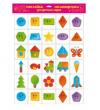 Набор наклеек на шкафчики для детского сада 'Веселая геометрия'
