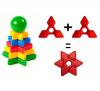 Пирамидка КЛАСАТА Треугольник (12 деталей) арт. 1115