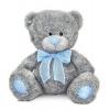 LAVA Медведь с голубым бантом большой 8702