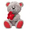 LAVA Медведь с красным цветком 1096
