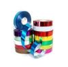 Лента 1 м гладкая 2 см для оформления подарочной упаковки (цвета в ассорт.)