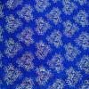 Бумага голографическая 'Ажурное сердце' цвет синий 70*100 см