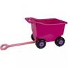 Тележка для игрушек на колесах большая РОЗОВАЯ