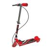 Самокат 3-х кол. 'Scooter' красный до 25 кг, стальной, колеса ПВХ 100 мм, с руч.тормозом KS2704RED