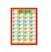 Плакат 'Азбука!' Ламинация, пиши- стирай формат 4