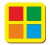 Woodland 'Сложи квадрат - 1' 4 квадрата 064201