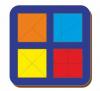 Woodland 'Сложи квадрат - 2' 4 квадрата 064204