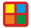 Woodland 'Сложи квадрат - 3' 4 квадрата 064205