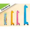 Линейка пластик 15см Schreiber 'Жираф' 4цв пластиковая