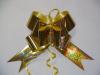 Бант Бабочка h=7 см золотая полоска