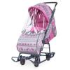 Санки-коляска НИКА Умка 3 розовый вязанный