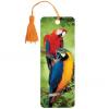 Закладка 3D BRAUBERG 'Попугаи', с декоративным шнурком-завязкой,