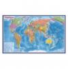 Карта Мира политическая М1:32млн 101*70 ламин GLOBEN КН040