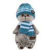 BudiBasa Басик в голубой вязаной шапке и шарфе 22 см Ks22-105