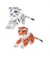 Fluffy Family Тигр 18 см., лежачий., в ассорт