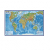 Карта Мира физическая М1:29млн 101*66 ламин в тубусе GLOBEN КН039