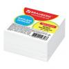 Блок для записей BRAUBERG проклеенный куб 9х9х5 см, белый, белизна 95-98%, 129195