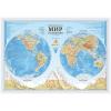 Карта Мира физическая М1:37млн 101*69 GLOBEN КН090