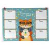 Расписание уроков А3 ФЕНИКС 'Стильный кот' горизонтальное 49980