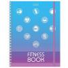 Ежедневник для фитнеса Hatber 'Спорт как стиль жизни ' А5 96л глянцевый ламированный картон, спираль