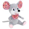 Мульти-пульти Мышка с бантиком в горошек 18см, без чипа в пак.