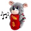 Мягкая игрушка-копилка KWELT музыкальная Мышонок 17см
