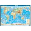 Карта Мира физическая М1:38млн 90*60см масштаб антибликовая ламинация 4660000230515