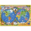 Карта Мир для детей ГеоДом Вокруг света со смешариками, 38*58см