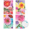 Блокнот ALINGAR AL5858 'Flowers&Plants' 130*190 48л линейка тв ламин замочек