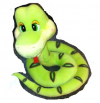 Змейка GT5871 Зеленая 24см TM Sonata Style