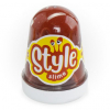 Лизун STYLE SLIME  Коричневый с ароматом колы 130мл. Сл-015