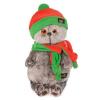 BudiBasa Басик в оранжево-зеленой шапке и шарфике 25см. Ks22-087
