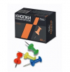 Кнопки силовые 50шт HATBER цветные карт упак 14000