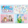 Альбом для рисования 20л BG 'Mix-Девочки (ассорти)' на скобе, обложка - мелованный карт