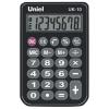 Калькулятор карманный 08-разрядный UNIEL черн UK-10K
