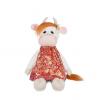 MAXITOYS Luxury Коровка Глаша в Коралловом Платье, 23см MT-MRT022012-23