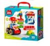Конструктор Baby Blocks 'Пожарная часть' 35 дет 32*22.5*8.7см 3+ 03907 Десятое королевство
