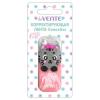 Корректирующая лента DEVENTE 'Сute Cat' 5мм*6м, розовый непрозрачный пластиковый корпус