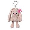 BudiBasa  Брелок Зайка Ми с розовым бантиком, размер игрушки 14см