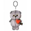 BudiBasa  Брелок Кот Басик с сердечком, размер игрушки 12см