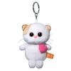BudiBasa  Брелок Кошечка Ли Ли с розовым сердцем, размер игрушки 12см