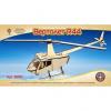 Конструктор деревянный 3D Вертолет R44 ( mini ) 80111