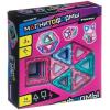 Конструктор магнитный 3D Bondibon МАГНИТОФОРМЫ 14 дет. (6 квадратов, 8  треугольников)  ВВ4400